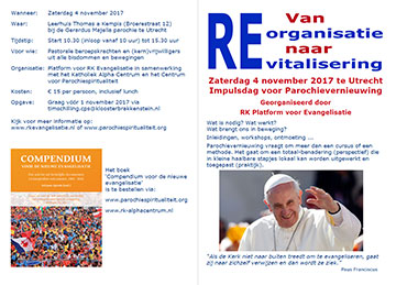 Flyer Impulsdag Parochievernieuwing 4 november 2017