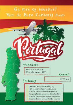 Met de Bavo Cantorij op tournee naar Portugal